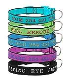 Mihqy Personalisierte Hundehalsband - Hundehalsband Hundehalsringe anpassen - Welpen Halsbänder & Gestickte Hundehalsbänder mit Haustier Name & Telefonnummer - Persönlichen ID Halsband für Hunde