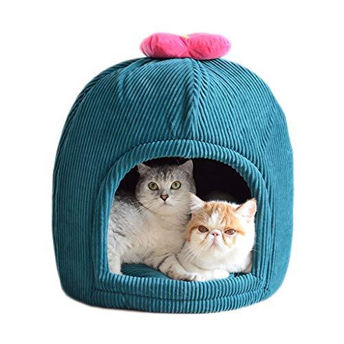 YAGEER gouwo Cama para Gatos Saco de Dormir para Mascotas casa de Gato Cama para Gatos extraíble Adecuada para Mascotas pequeñas y Medianas Tienda de campaña para Gato Cuatro Estaciones universales