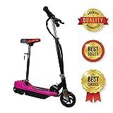 Patinete electrico rosa para niños plegable con asiento Scooter mini con silla y acelerador