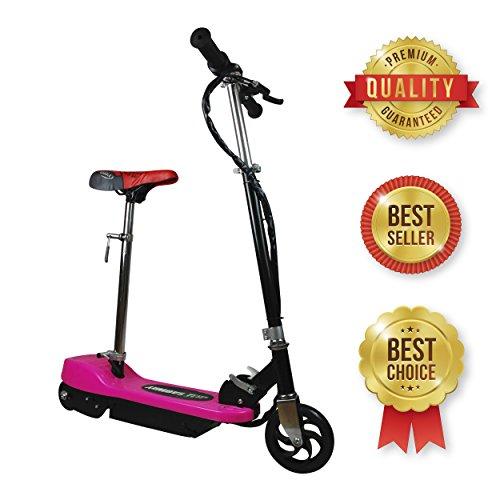 SABWAY® Patinete electrico para Niños - Rosa Plegable con Asiento Scooter Mini con Silla y Acelerador