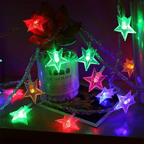 Keepwin Guirlande Lumineuse De Noël Étoile Fée De Noce Décoration Extérieure Lampe 10m 100 LED Décor À La Maison(Taille unique,Multicolore)
