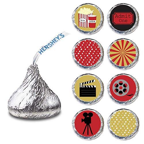 Adorebynat Party Decorations - EU Filmabendlabel für Hershey's Kisses®-Schokoladen (Bitte mit dem Film-Candy-Sticker feiern) Satz von 240 (Ein Ticket Zugeben,)