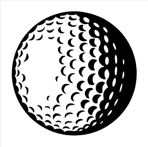 HLZLA Abnehmbare 3D Poster Golfball Vinyl wandkunst Aufkleber Sport Thema Aufkleber Wandaufkleber Wohnkultur Wohnzimmer 57x57 cm