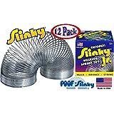 POOF-Slinky Model #125 Original Metal Slinky Jr. Junior (Silver) - 12 Pack