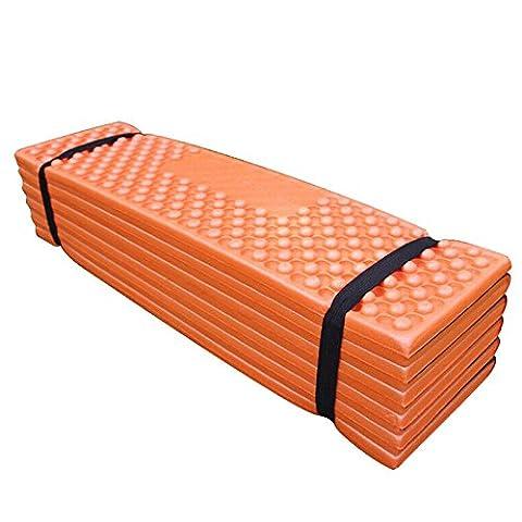 Ultralight Schaumstoff Outdoor Camping Matte einfach zusammenklappbar Beach Zelt Sleeping Pad Wasserdichte Matratze 190?x 57?x 2?cm - Orange