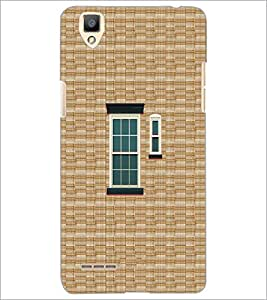 PrintDhaba Window Design D-3222 Back Case Cover for OPPO F1 (Multi-Coloured)