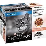 Pro Plan Katzenfutter NutriSavour, mit Lachs in Soße, 10x85g, insgesamt 40Beutel