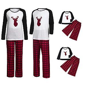 FELZ Conjunto de Pijamas Festivo Pijamas Caseros de Navidad Pijamas Hombre Mujers Bebé Pijama Familiares con Estampado… 14