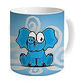 """okoukiu azul elefante taza taza de café taza de té–regalo para cumpleaños, Navidad y nuevo year-3.7""""x 3.1"""", 11oz"""
