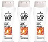 Schwarzkopf Gliss Kur Shampoo, Total Repair, 3er Pack (3 x 250 ml)