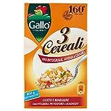 Riso Gallo 3 Cereali Riso Integrale, Avena e Grano - 800 gr