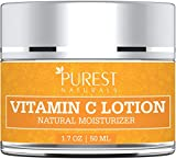 Purest Naturals Anti-Aging Vitamin C Facial Moisturizer Lotion - Best Face Wash For Skin Brightening & Sun Protection - With Green Tea, Hydrating Jojoba Oil & MSM …