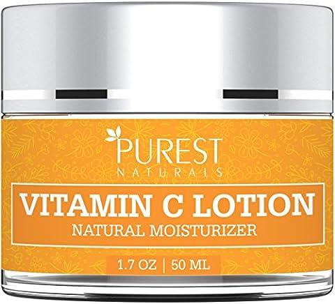 Anti-Aging-Gesichtsbehandlung Feuchtigkeitscreme Vitamin C Lotion von Purest Naturals - Bestes Gesicht waschen für die Haut hellen & Sonnenschutz - Mit grünem Tee, Feuchtigkeit Jojobaöl& MSM ...