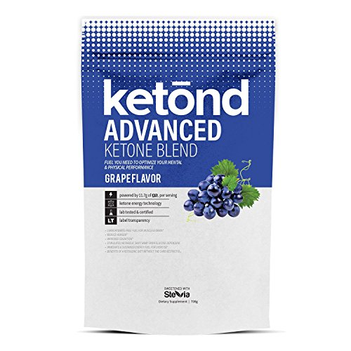 Ketond Nutrition Suplemento avanzado de cetona - 11,7 g de goBHB por porción (30 porciones) BHB (Beta-hidroxibutirato) suplemento para bajar de peso (uva)