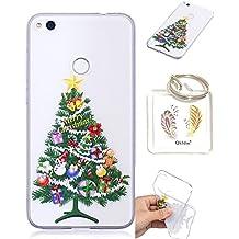 Huawei P8Lite 2017TPU Protección Silikonhülle, regalos de Navidad bonitas dibujos animados de Transparente Funda Caso P8Lite 2017(5,2en) + Schlüsselanhänger (*/62)