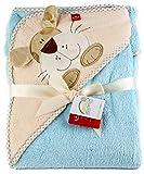 Baby Badehandtuch mit Kapuze. Mikrofaser - Kinder Kapuzenhandtuch - Warm und kuschelig! (Hund)
