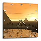 Perkins Designs The Giza Necropolis Sun Rises Over The Desert Sand Wall Clock, 10 by 10-Inch