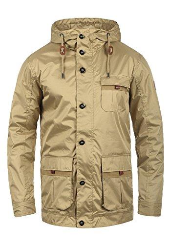 BLEND Finn Herren Übergangsjacke Kapuzenjacke aus hochwertiger  Baumwoll-Mischung Safari Brown (75115) d3403d103a