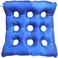 Halovie Almohada aire inflable cojín de médicos coxis Ortopédico PVC amortiguador almohadilla para silla de ruedas Cojín asiento Alivia el Dolor y Corrige la Postura