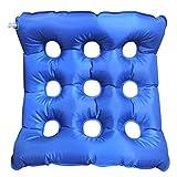 HALOViE Cuscino Gonfiabile Medico Allevia il Dolore e Corregge la Postura Cuscino Ortopedico in PVC per Sedia a Rotelle 45 x 45 cm