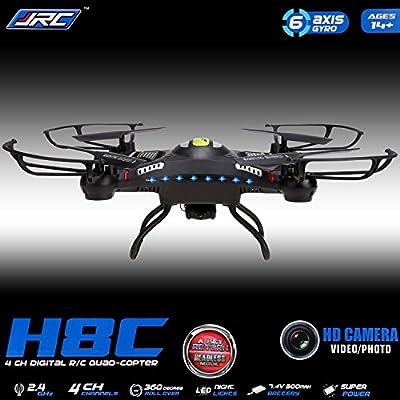 Arshiner JJRC H8C 2.0MP HDCamera 2.4G 4CH 6-Axis Gyro RC Quadcopter Aircraft RTF