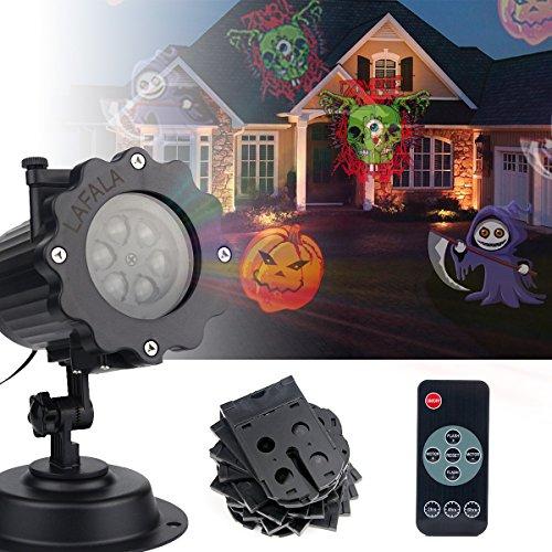 LAFALA Weihnachtsbeleuchtung Projektor - 2017 Upgrade Version 16PCS Muster Xmas Projektor Landschaft Licht Fernbedienung und wasserdicht für Outdoor und (Halloween Outdoor)