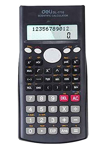 Kompaktes Design Scientific Taschenrechner mit Deckel [Schwarz]