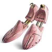 Love-KANKEI Cedar Wood Shoe Tree Shoe Shaper, Fit Shoe Size 7.5-10.5 for Men