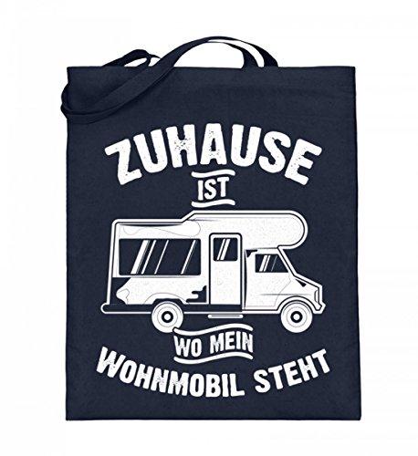 Hochwertiger Jutebeutel (mit langen Henkeln) - Camping Camper Wohnwagen Wohnmobil Campingplatz Zuhause Geschenk