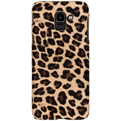 hCase Samsung Galaxy J6 (2018) Hülle - Leopard, Wildkatze, Tiermuster - Hard Case Handyhülle