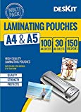 Best Laminating Pouches - Deskit Laminating Pouches A4 Size - 130 Sheets Review