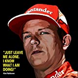 #8: Wall Painting Canvas /Kimi Raikkonen Motivational Quote Printed Unframed Wall Painting Canvas -100yellow- 24 x 24 Inch