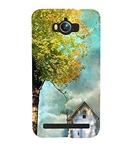 printtech Beautiful House Tree Back Case Cover for Asus Zenfone Max ZC550KL (2016)