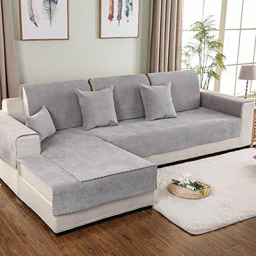 Impermeabile fodera per divano peluche,antiscivolo universale divano cuscino copertura totale divano copertina asciugamano nordic minimalista moderno divano in pelle all-inclusive imposta-b 90x160cm(35x63inch)