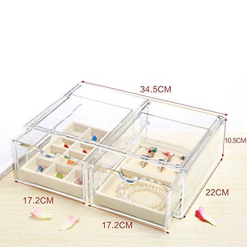 scatola di immagazzinaggio di alta qualità in pelle scamosciata gioielli/L