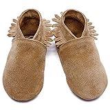 Inch Blue , Chaussures Souple pour bébé (garçon) Marron Marron - Marron - Marron, L 31 EU-12-18 Mois, avec Blanc Boite Cadeau