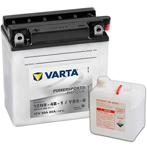 Varta 509014008A514 Powersports Freshpack Motorradbatterie 12V, 9Ah