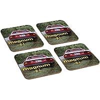 Magnum PI Tom Selleck 4 Piece Wooden Coaster Set