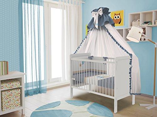 Polini per bambini lettino culla 120 x 60 cm semplici 220 bianco, 3037-04