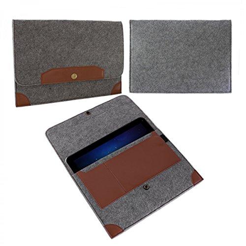 eFabrik Sleeve für Kiano Cavion Base 10 3G (10,1 ') Tasche Hülle Schutz Case Cover Zubehör Filz Grau -