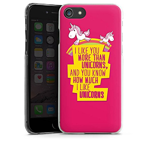 Apple iPhone X Silikon Hülle Case Schutzhülle Unicorn Einhorn Sprüche Hard Case transparent