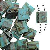 Miyuki Dbt-4514Vert écume de mer Mat Picasso 7,2G Tila 2Trou carré, perles,...