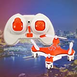 Cheerson CX-10 RC Drone Mini 2.4G 4CH 6 Axis Gyro Remoto Nano quadricottero 360°Flip Una Funzione Chiave di Atterraggio e Decollare Giocattolo Elicottero RC(Arancione)