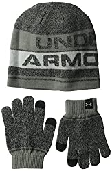 Under Armour Boys Combo 2.0 Glove Beanie-black,one Size