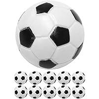 Maxstore 10 Stück Kicker Bälle aus ABS, Farbe: schwarz/weiß (klassische Fußball-Optik), hart und schnell, Durchmesser 31mm, Tischfussball Kickerbälle Ball