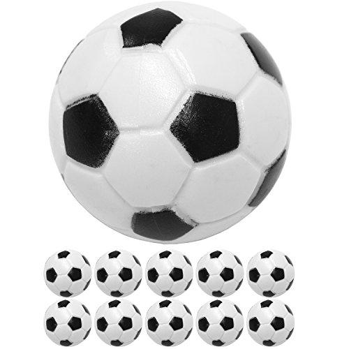 10 Stück Kicker Bälle aus ABS, Farbe: schwarz/weiß (klassische Fußball-Optik), hart und schnell, Durchmesser 31mm, Tischfussball Kickerbälle Ball