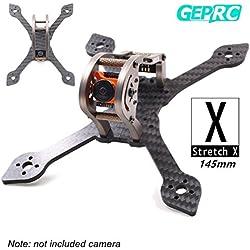 GEPRC 145MM Carbon Fiber FPV Racing Drone Frame RGB LED 3K Marco de fibra de carbono 3 mm de espesor de apoyo RUNCAM Swift Mini y lente Micro Swift para FPV Racing Quadcopter Drone (GEP-MSX3)