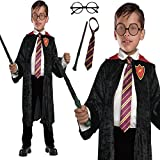 Wizard Cloak 4 piece set School Boy Fancy Dress Costume (Medium)