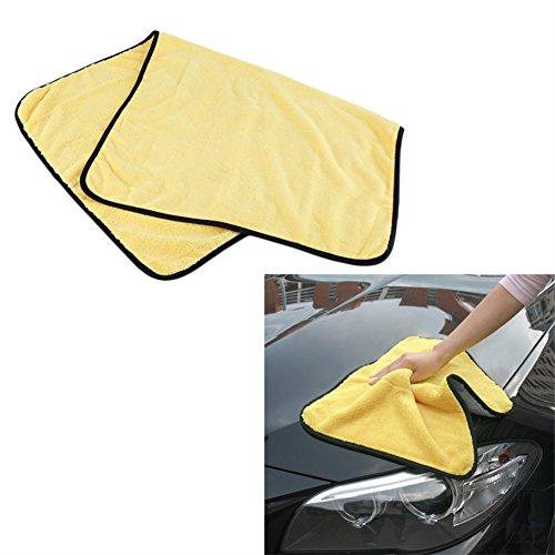 Kasit 1 PC Super saugfähigen Autowasch Mikrofaser Handtuch Auto Reinigung Trockentuch Große Größe Hemming Car Care Tuch Detaillierung Handtuch - 92 * 56 cm (Hemming Maschine)