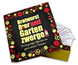 Bratwurst, Bier und Gartenzwerge - Fragespiel - Geschenk für sie & ihn - Mitbringsel